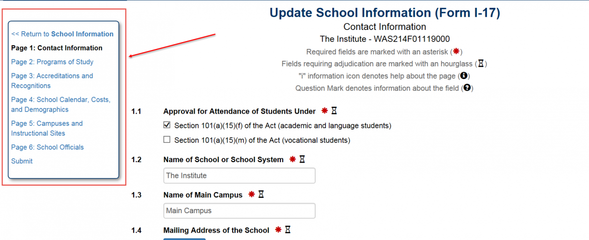 update school information page.png