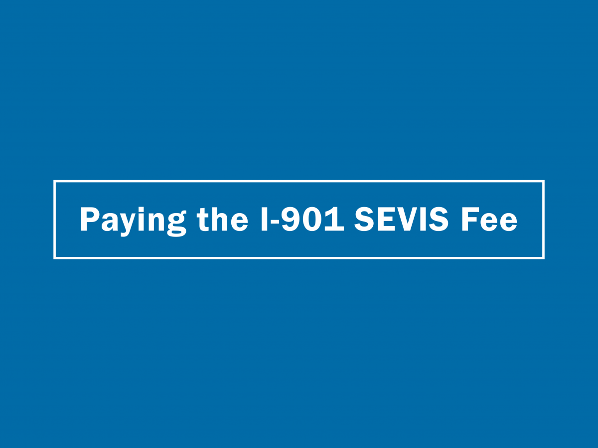 I-901 Fee Payment Tutorial