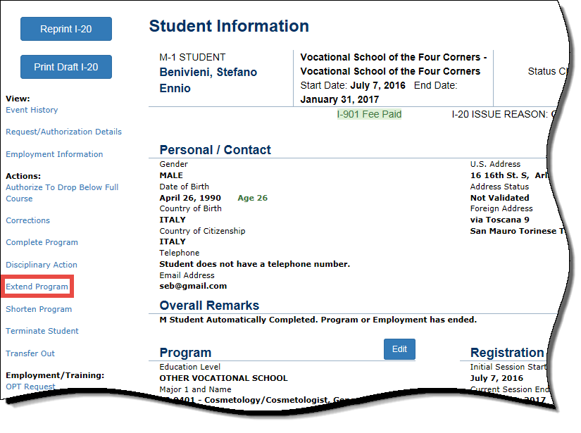 Extend M-1 Student | Study in the States on uscis citizenship application form, notice of action form, passport application form, immigration to canada application form, h1b application form, i-9 application form, us postal application form, california gun license application form, i-90 application form, sample college application form,