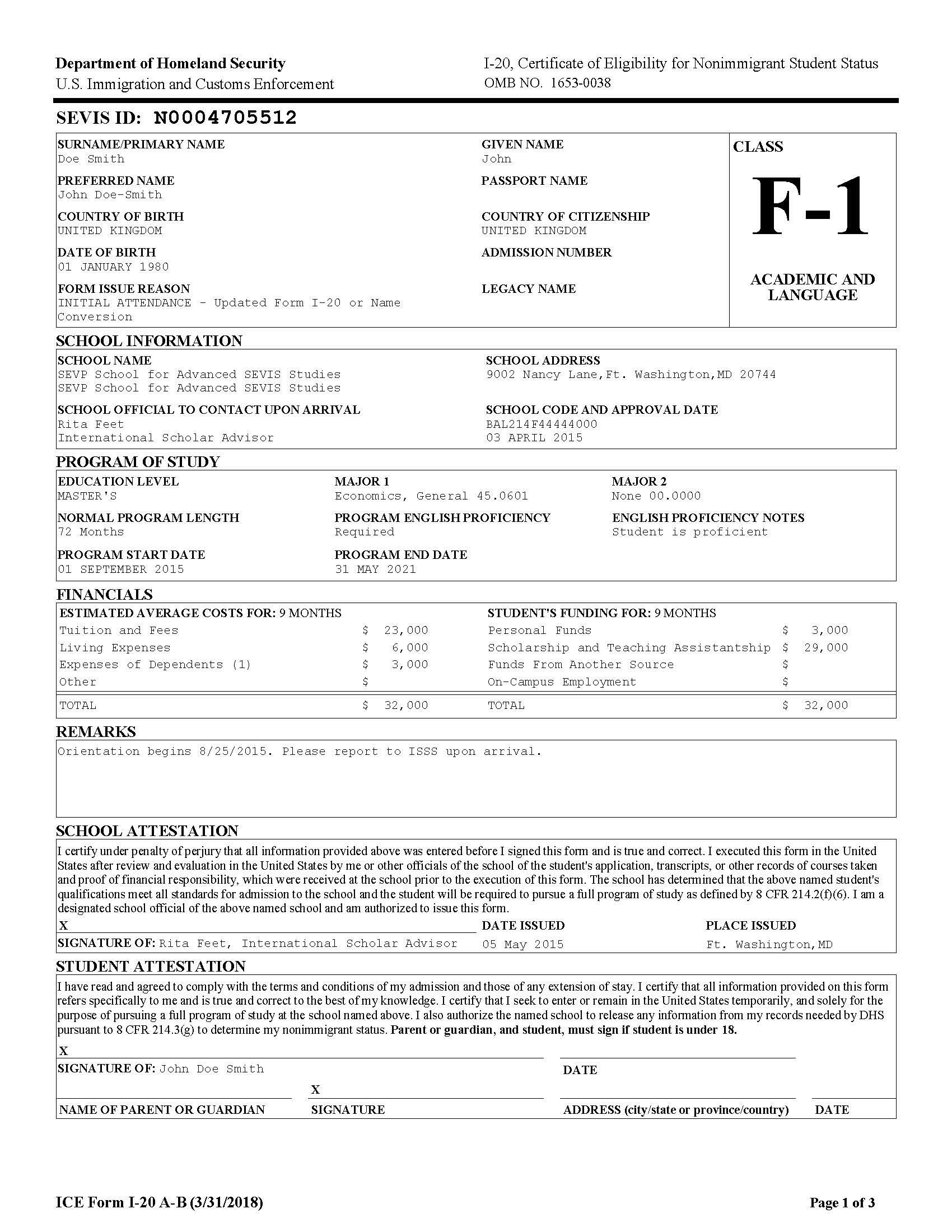 Redesigned Form I20 Fact Sheet – Official Change of Address Form