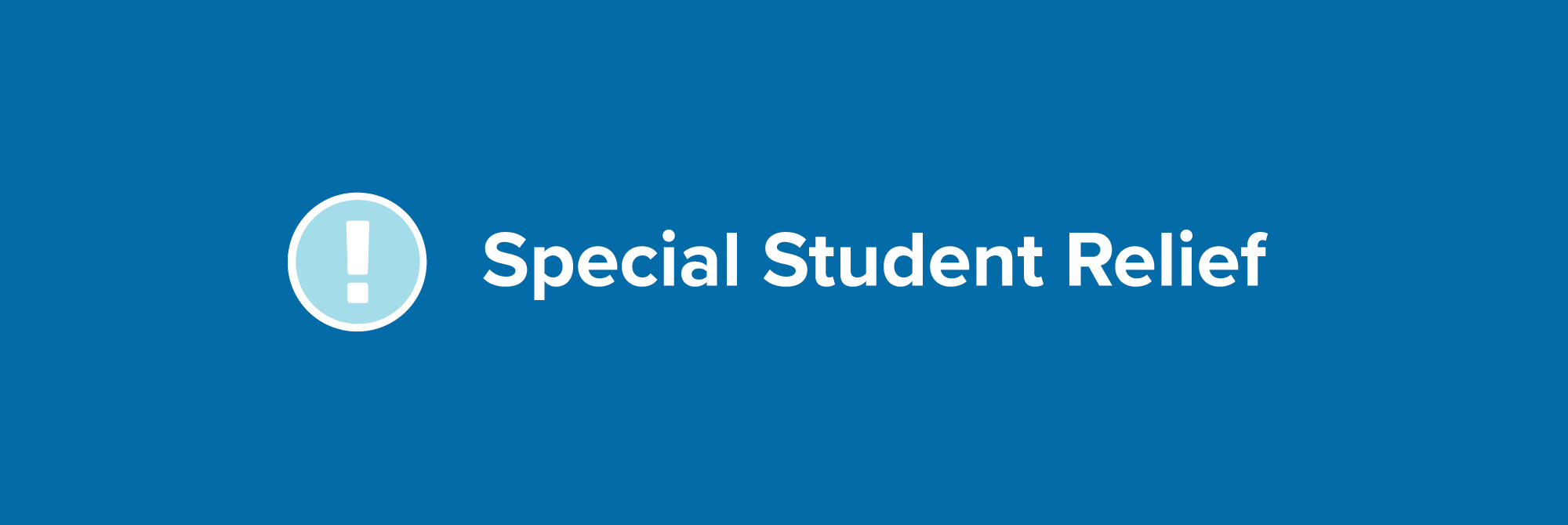 special student relief