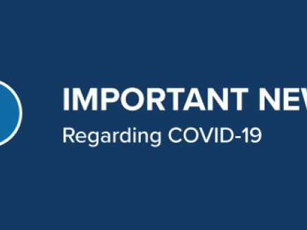 Important news regarding COVID-19