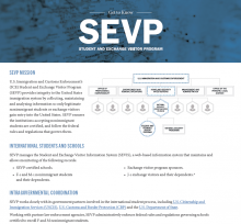 image for Get to Know SEVP